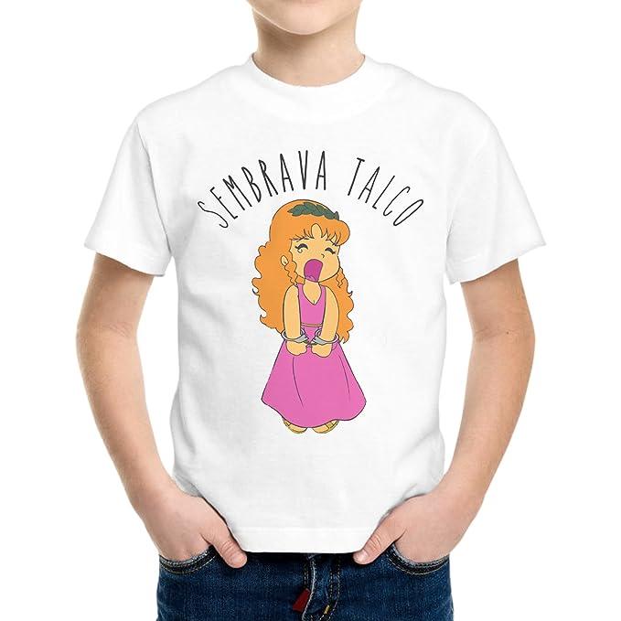 Camiseta Niño Niño Pollon Sembrava Talco Funny Cartoon - Blanco Bianco: Amazon.es: Ropa y accesorios