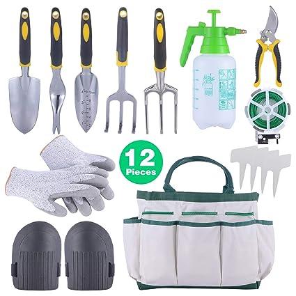 Amazon.com: Sonyabecca - Juego de 12 herramientas de jardín ...