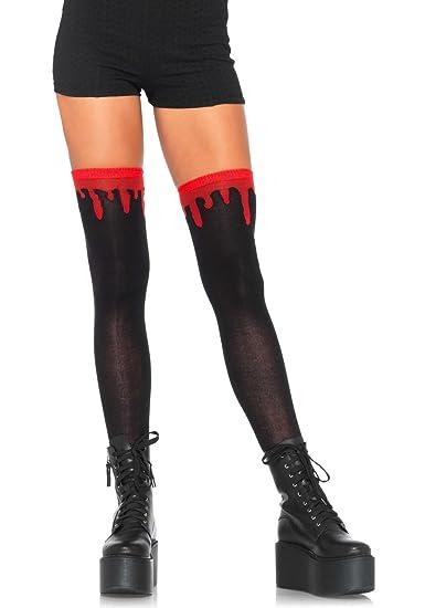 5c1a88f54 Amazon.com  Leg Avenue Womens Blood Drip Knee Socks  Clothing