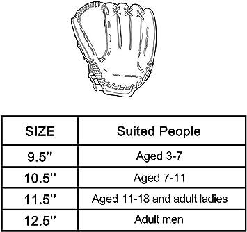 Acidea 10,5 Pollici Sport allAria Aperta Guanto da Baseball Attrezzature per Esercizi di Softball Mano Sinistra per Adulto Uomo Donna Guanto da Baseball
