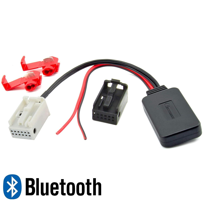 Adattatore musica Bluetooth per BMW Serie 1 E87 Serie 3 E46 E90 E91 Serie 5 E60 E61 MP3 Audio Stream Watermark WM-BT17