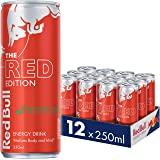 Red Bull Red Edition Energy Drink, Case of 12 x 250ml, Watermelon