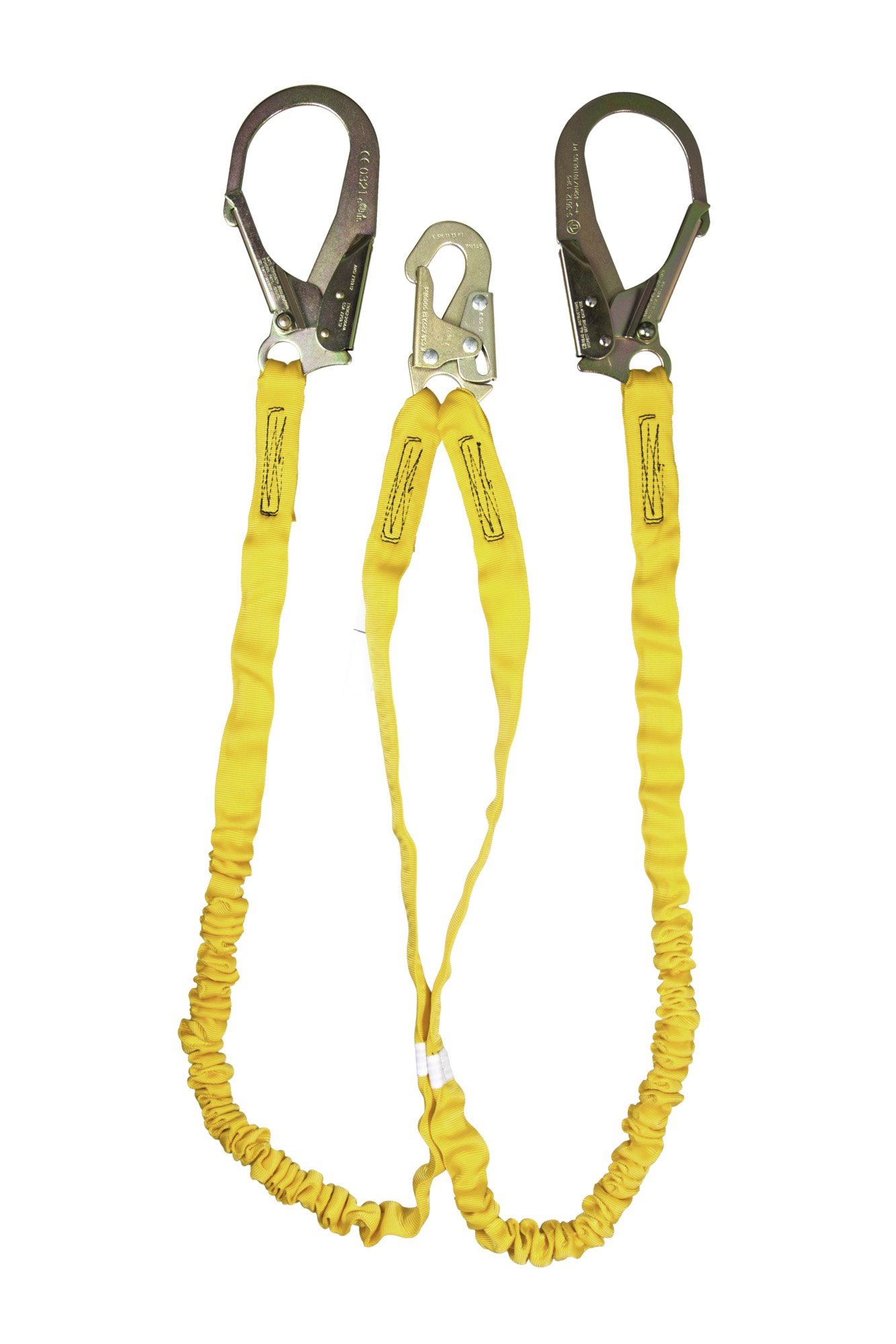 Guardian Fall Protection 11203 IS-72-2R 6-Foot Double Leg Internal Shock Lanyard with Rebar Hook by Guardian Fall Protection