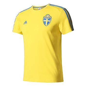 adidas SVFF 3S tee Camiseta Asociación Sueca de Fútbol, Hombre, Amarillo (Amaril/Reabri), XS: Amazon.es: Deportes y aire libre