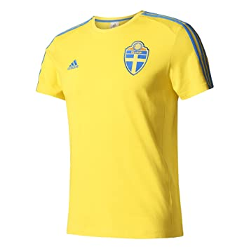 Adidas SVFF 3S tee Camiseta Asociación Sueca de Fútbol, Hombre, Amarillo (Amaril/