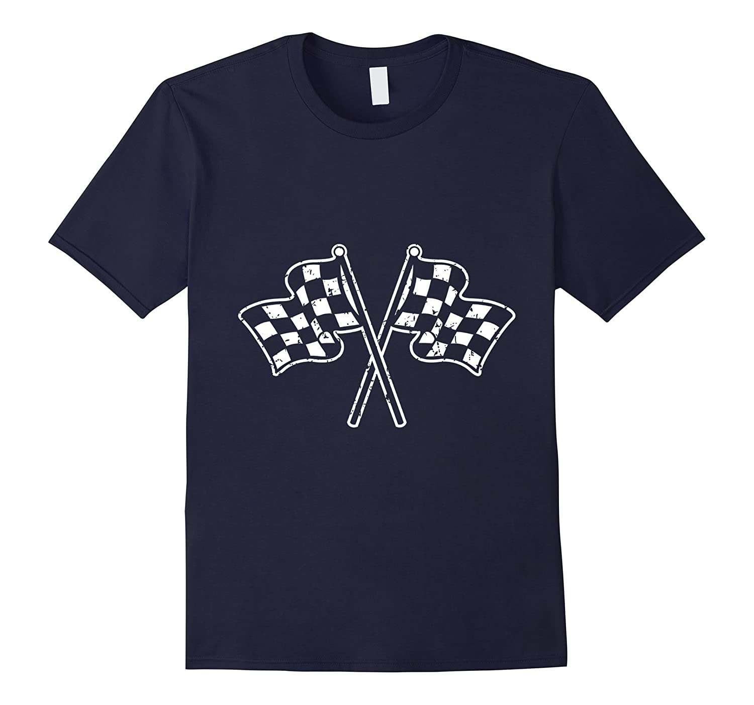 Checkered Race Flag t-shirt Racing Flags-Vaci