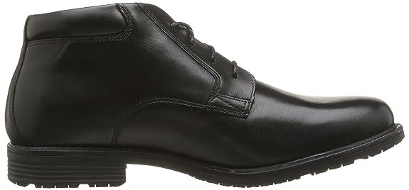 RockportEssential Detail Waterproof V75502 - Zapatos sin cordones hombre, Negro, 44
