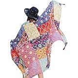 Saingace® Schal,Hot Spring-Sommer-Damen-ethnische Art-Schal Beach Head Sarong-Verpackungs-Schal Scarf Scarves