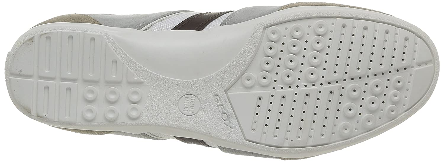 Geox u houston a, scarpe da uomo, multicolore(multicolore (whiteice)), 45 amazon shoes grigio