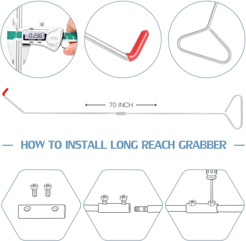 AGPTEK Essential Tool Kits with Air Wedge Bag Pump Non-Marring Wedge Screwdriver Multifunctional Tool Sets Long Reach Grabber