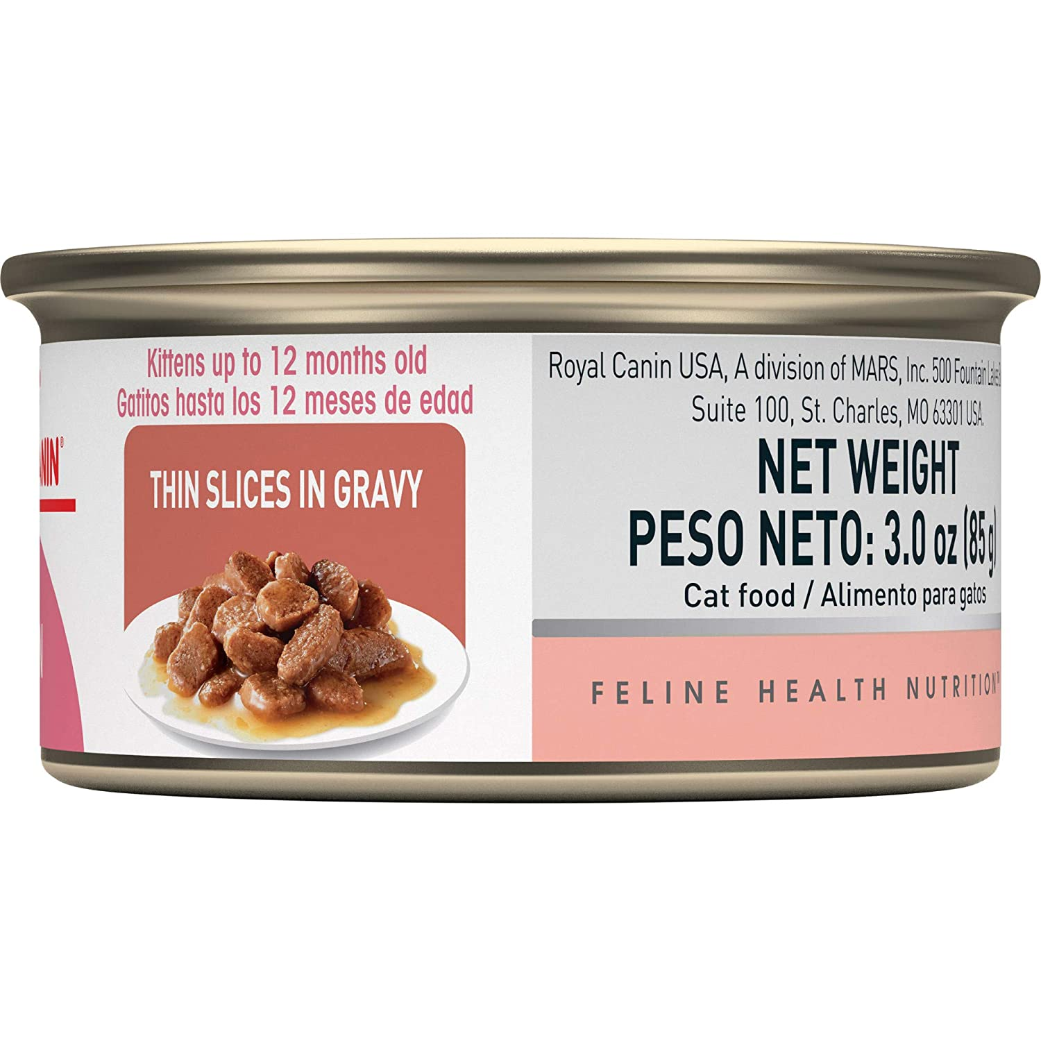 ROYAL CANIN FELINE HEALTH NUTRITION Kitten Instinctive thin slices in gravy canned cat food, 3-Ounces, by Royal Canin: Amazon.es: Productos para mascotas