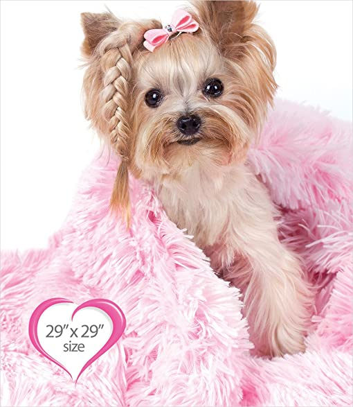 "Peluche Powder Puff Shag Dog/Pet Blanket (29"" x 29"" ..."