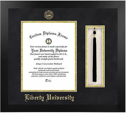 amazon com liberty university tassel diploma frame 14 x 17
