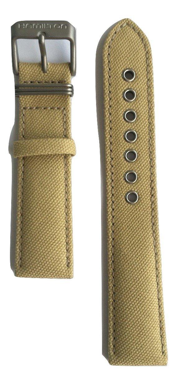 Authentic Hamilton Khaki Field Beige Canvas Band Strap for H69419933 or H69419363