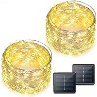 2-Pack Binval 72-Feet 200-LED Solar Copper String Lights (Warm White)