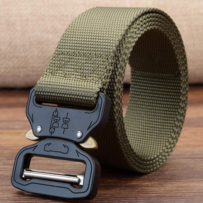 TSWRK Cintura Militare Tattica per Uomo Heavy Tessuto in