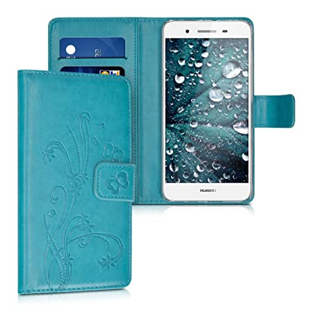kwmobile Huawei GR3 / P8 Lite SMART Hülle - Kunstleder Wallet Case für Huawei GR3 / P8 Lite SMART mit Kartenfächern und Stand