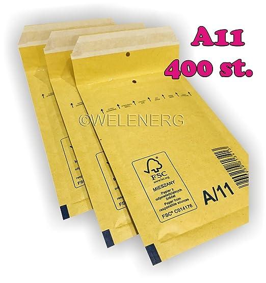 1 braun 400 Luftpolster Versandtaschen Luftpolstertaschen A