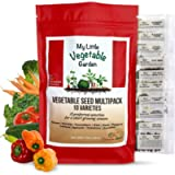 10 Heirloom Varieties - Vegetable Seeds Variety Pack Canada - Container & Raised Garden Friendly Non GMO