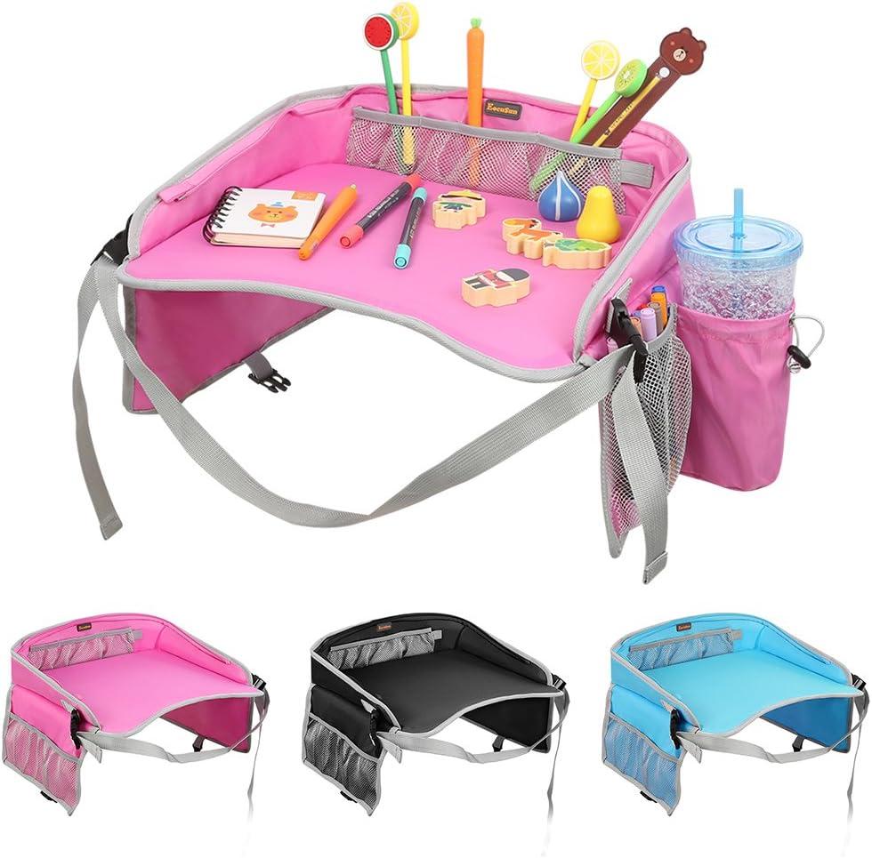 Nero Vassoio di viaggio EocuSun vassoi di gioco di snack di dei bambini Scheda di disegno multifunzionale portatile per i bambini Carrozzina di sicurezza dellautomobile Passeggini dei passeggini
