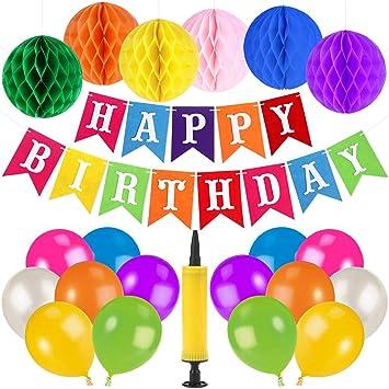 Unomor - Globos y pancartas Decorativas para cumpleaños y ...
