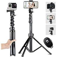 Tripé para selfie, Eocean 56 '' Extensível para selfie com suporte para tripé de telefone e controle remoto sem fio para…