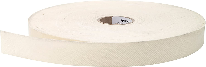 Khaki 25 yd PEARL 1 Wide Broadcloth Flat Bias Binding