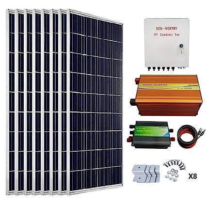 ECO-WORTHY 800 Watts Solar Panel Kit: 8pcs 100W Poly Solar Panel +