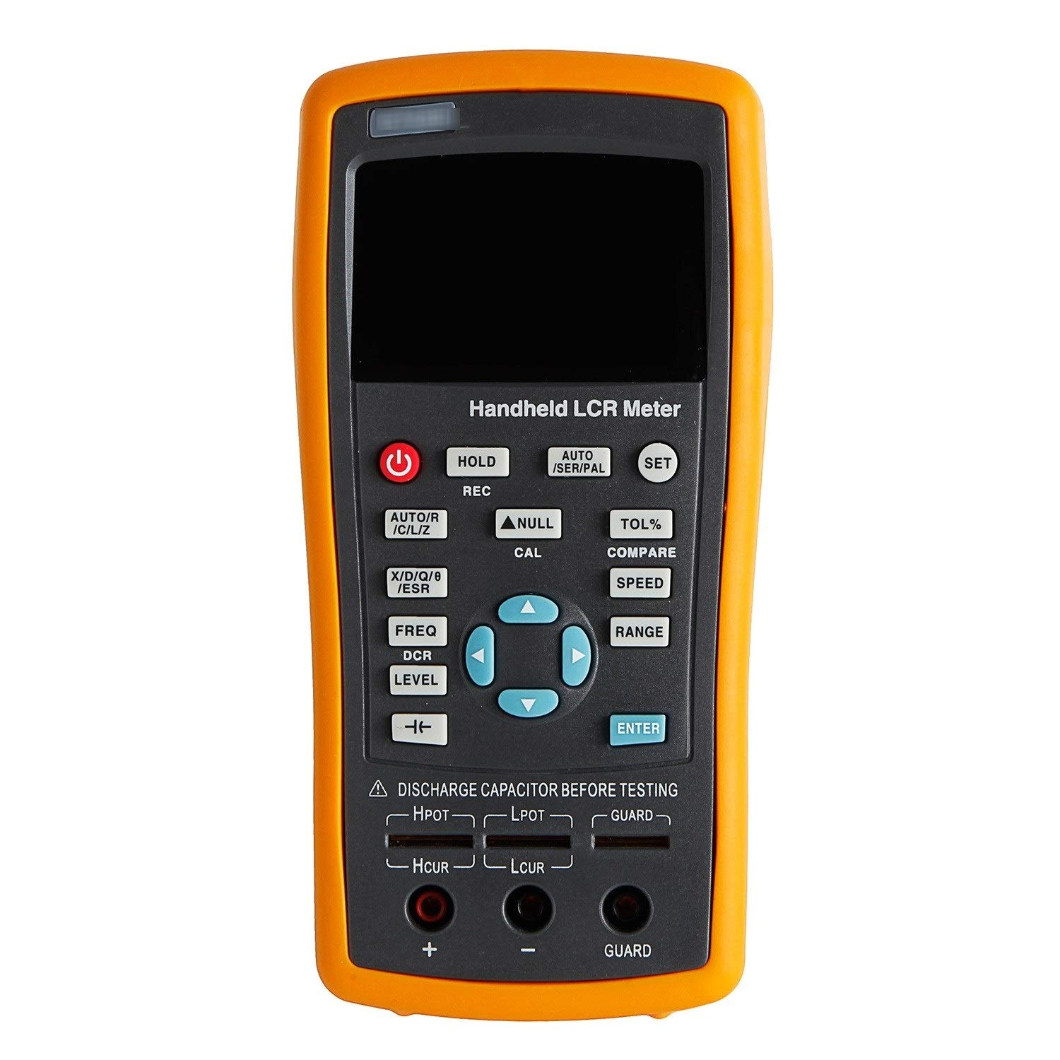 Durable Digital LCR Bridge Handheld LCR LCR Meter with Backlight Display ET430 + 0.2% Accuracy, Resistance Electrolytic Capacitance Measuring Handheld LCR Bridge Precise