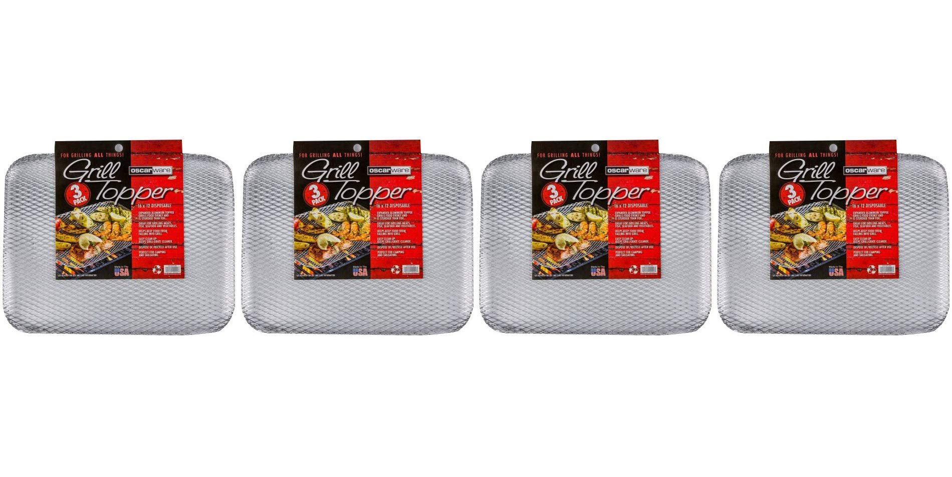Oscarware 3-Pack Disposable Grill Topper, 16 by 12-Inch (Fоur Paсk)