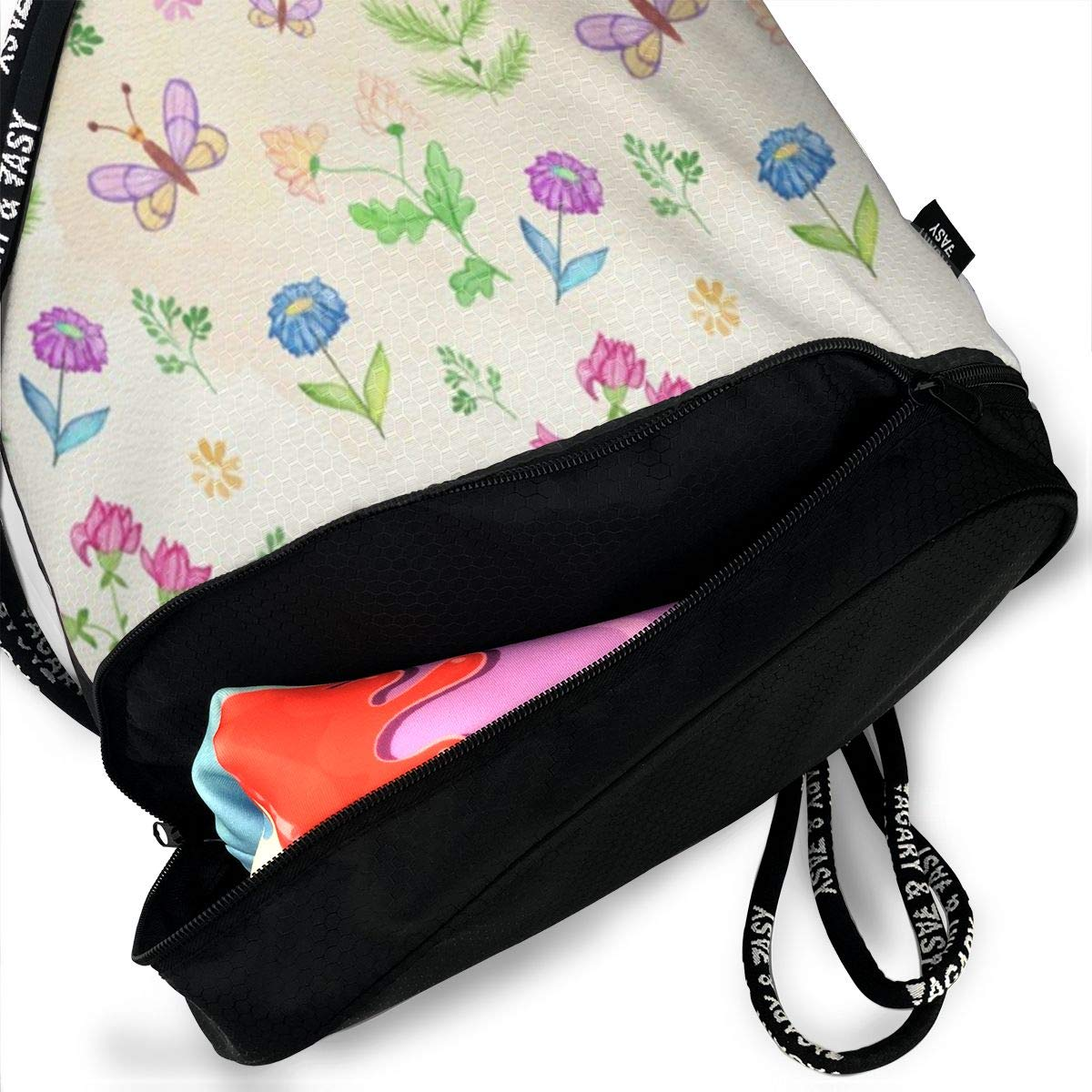 HUOPR5Q DogsPlusPawPrints Drawstring Backpack Sport Gym Sack Shoulder Bulk Bag Dance Bag for School Travel