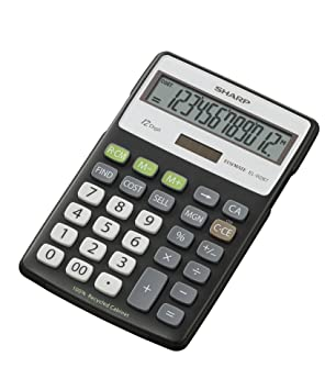 sharp recycled desk top calculator with cost sale margin