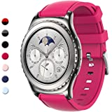 Gear S2 Classic Bands, Gear Sport Band Silicone Strap Quick Release Samsung Gear S2 Classic(SM-R732 & SM-R735) Samsung Gear Sport(SM-R600) Smart Watch (NOT Gear S2)(Hot Pink)