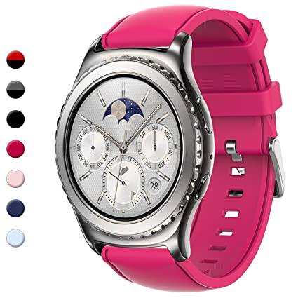Gear S2 Classic Bands, Gear Sport Band Silicone Strap Quick Release Samsung Gear S2 Classic(SM-R732 & SM-R735) Samsung Gear Sport(SM-R600) Smart Watch ...