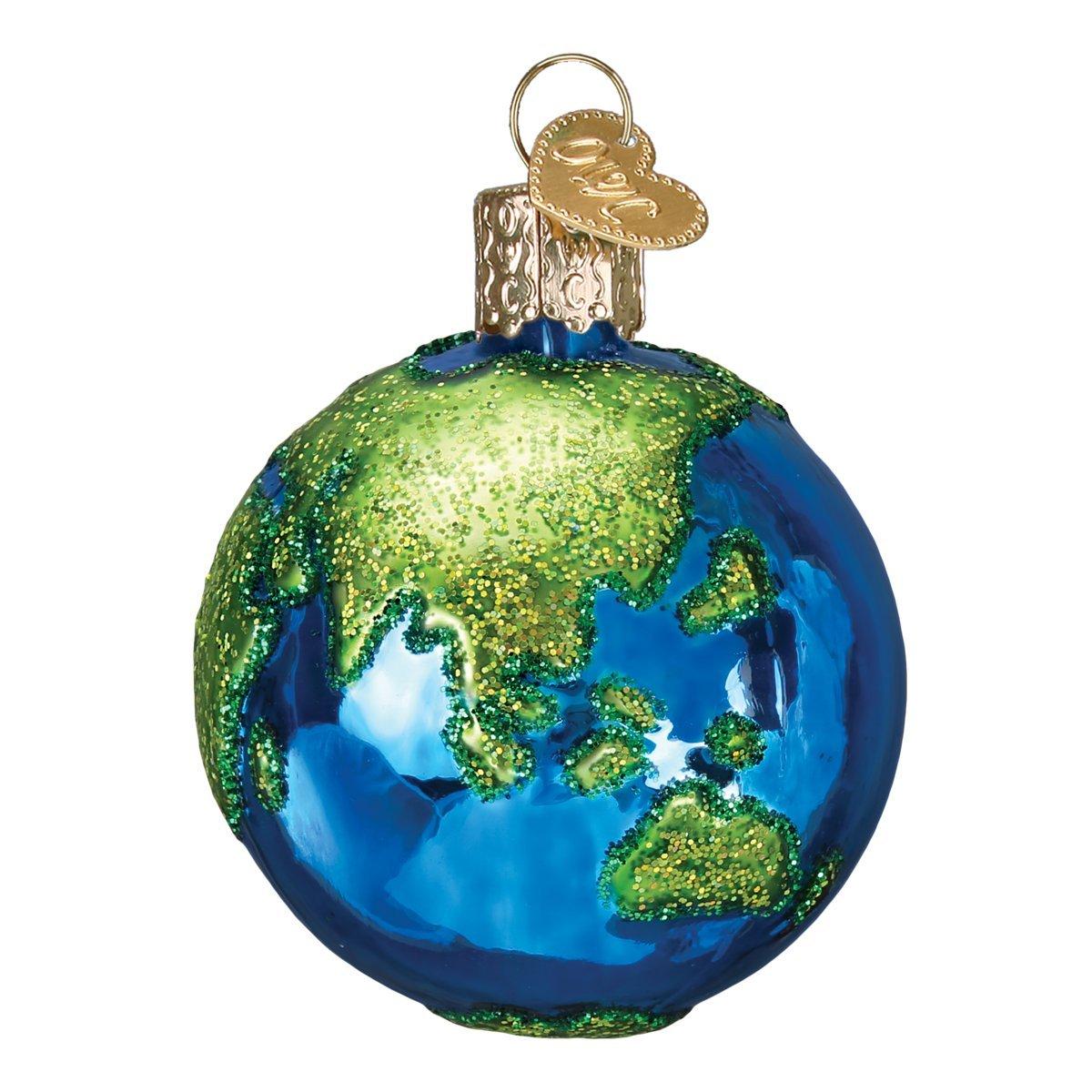 Amazon.com: Old World Christmas Planet Earth World Globe Holiday ...