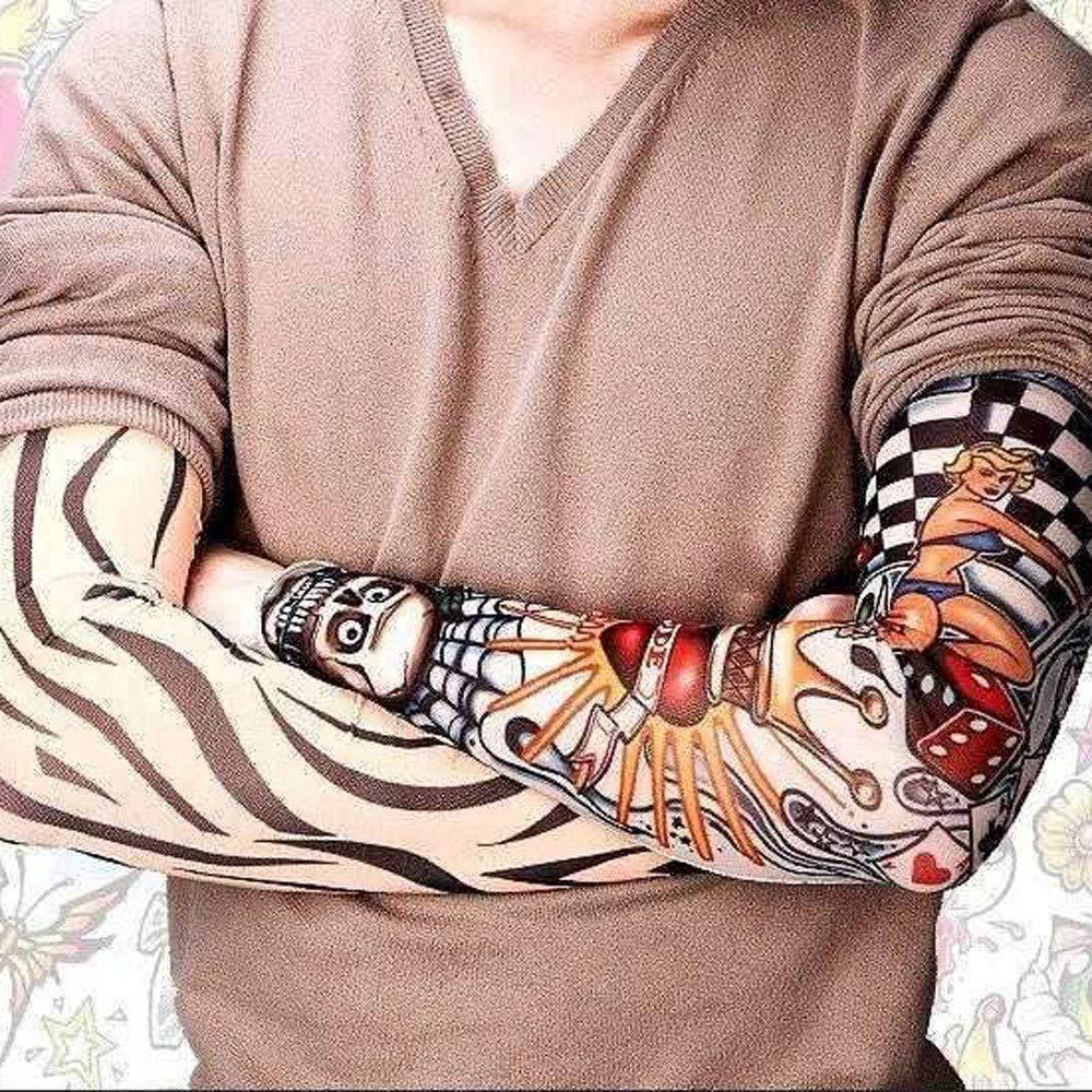 4Pcs Unisex Temporary Fake Slip On Tattoo Arm Sleeves Kit Sunscree by Sannysis (Image #6)