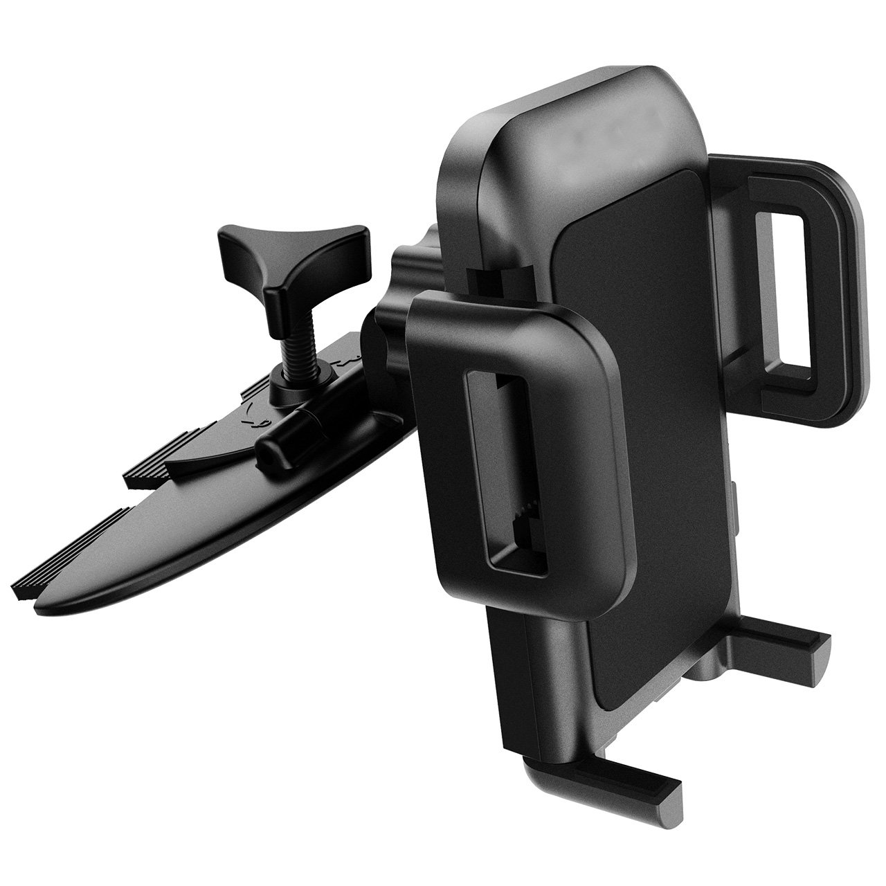 Mpow [Upgrade] Car Phone Mount,CD Slot Car Phone Holder Universal Car Cradle Phone Mount with Three-Side Grips for iPhone X/8/8Plus/7/7Plus/6s/6P/5S, Galaxy S5/S6/S7/S8, Google, Huawei etc