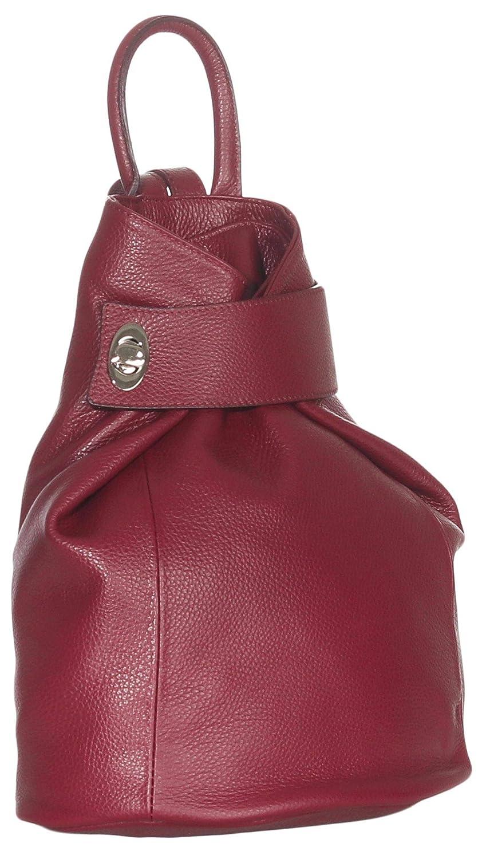 malito dam ryggsäck | väska i modefärger | ryggsäck i äkta läder | axelväska – axelväska R400 Bordeaux