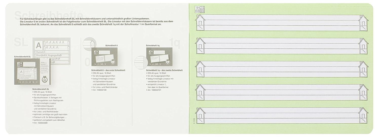 da 16 fogli colore: Colori vari Confezione da 10 quaderni scolastici 1/° elementare per scrittura formato A5 Schule lineatura 1 0