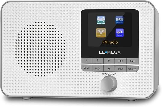 Radio de Internet portátil LEMEGA IR1,Radio Digital Dab/Dab +/FM,WiFi,Altavoz Bluetooth,alarmas duales,Temporizador de Cocina/Reposo,Salida de Auriculares,batería y alimentación por USB: Amazon.es: Electrónica