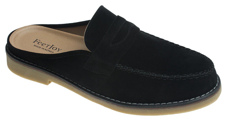 AGOS Mens Tassel Strap Mules Open Back Loafer Slip-On Dress Slippers