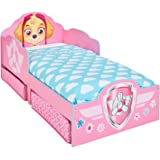 Hello Home Paw Patrol Skye Kids Toddler Bed with underbed Storage, Wood Pink, 142x77x68 cm