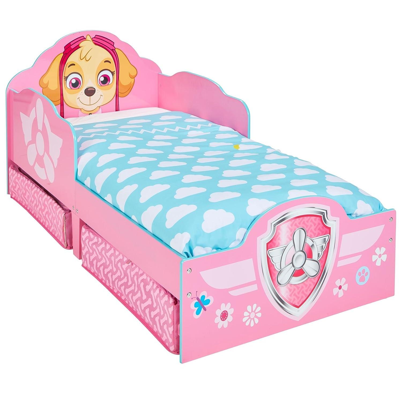 Paw Patrol Skye Kids Toddler Bed with Underbed Storage by HelloHome Worlds Apart 509SKE