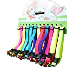 Pack de 12 collares coloridos para gato con cascabel, collares ajustables para gato gatito cachorro conejo pequeños animales