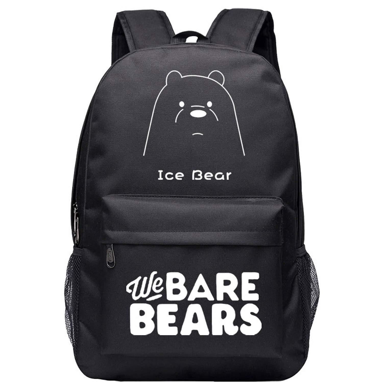 fe47dab72c9fd5 Amazon.com | Cartoon We Bare Bears High Capacity Backpack Canvas School Bag  Bookbag (01) | Kids' Backpacks