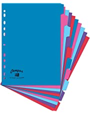 Oxford Campus A4 Size, 10 Part Dividers, Multi-Coloured, Set of 1