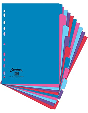 Oxford Campus – Separadores para archivador, tamaño A4, 10 unidades