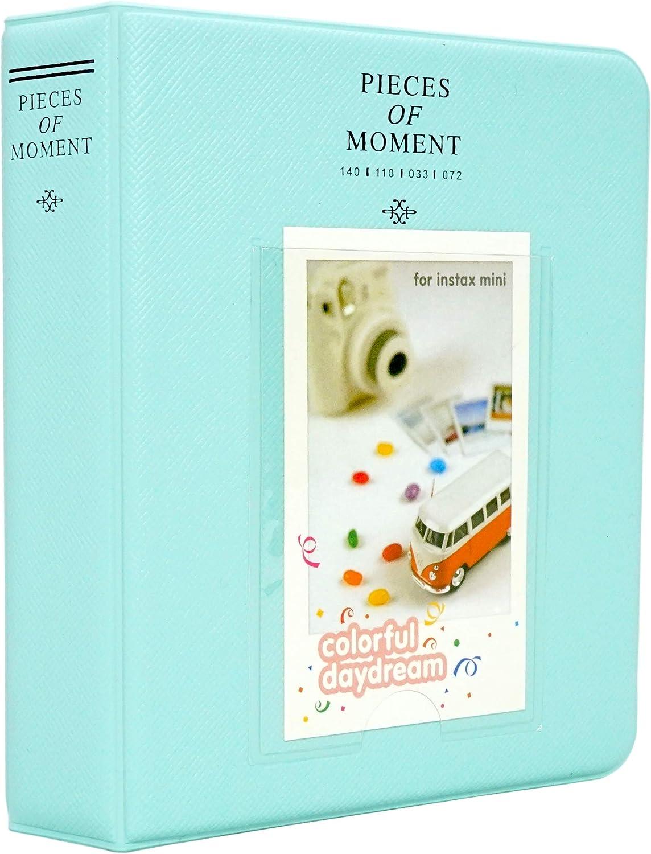 Yosuny Mini Album Schutzhülle 64 Taschen Für 3 Zoll Fujifilm Instax Mini Filme Für Mini8 8 Mini9 Mini11 70 90 25 50s 7s Liplay Kodak Hp Sprocke Eisblau Küche Haushalt
