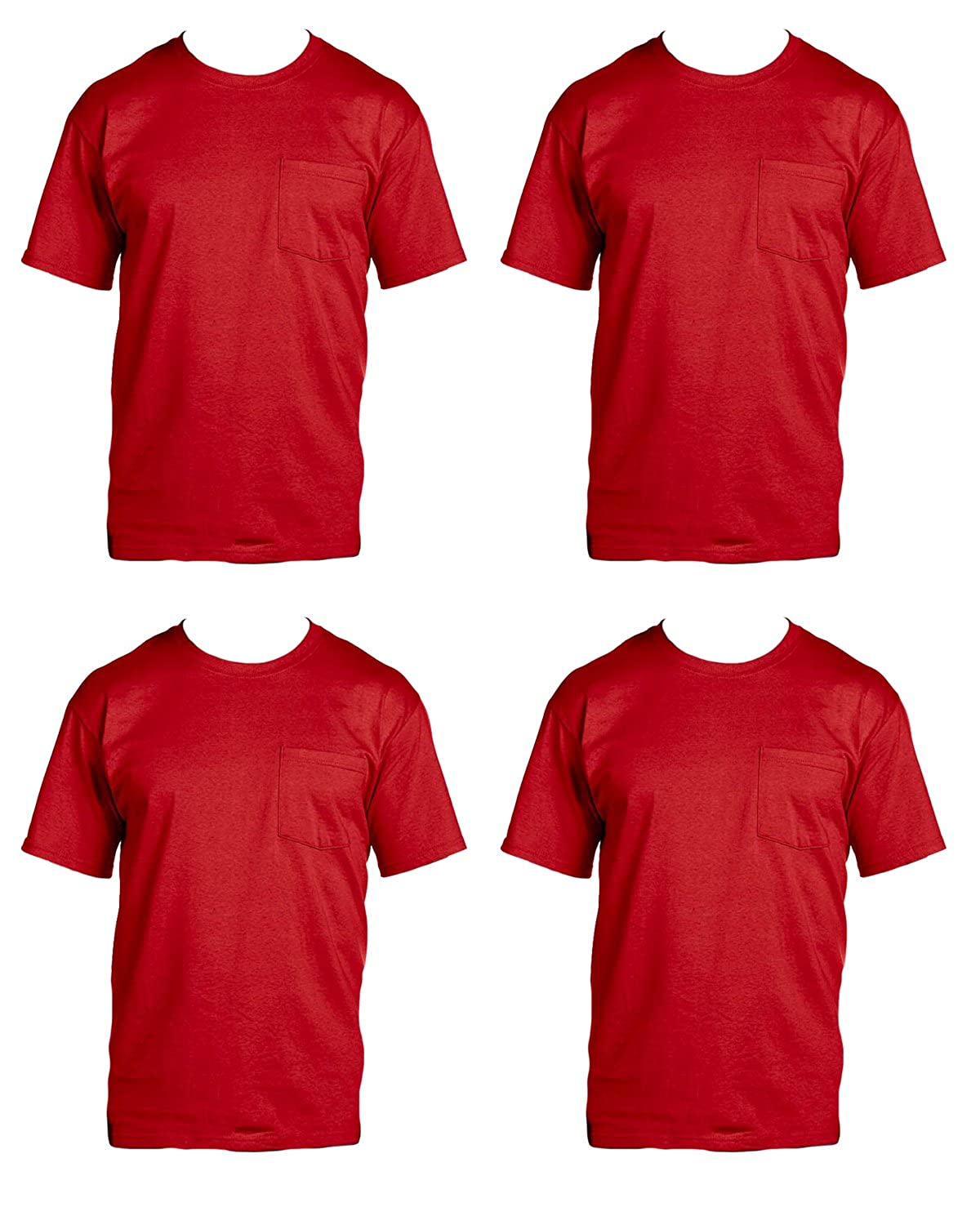 Amazon Fruit Of The Loom Mens Big 4 Pack Pocket T Shirt