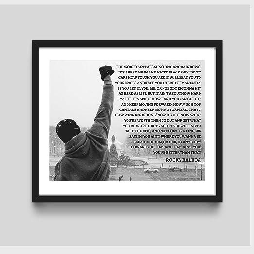 Rocky Balboa Framed Wall Art Rocky Balboa Framed Art Rocky Motivational Framed Art Rocky Boxing Life Quote Art Print Wall Art Rocky Boxing